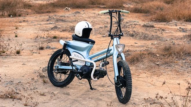 Honda Cub bobber độc đáo của sinh viên Việt - ảnh 1