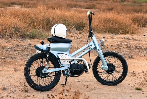Honda Cub bobber độc đáo của sinh viên Việt - ảnh 2