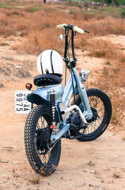 Honda Cub bobber độc đáo của sinh viên Việt - ảnh 3