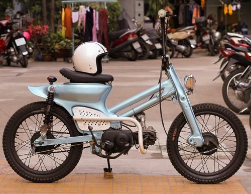 Honda Cub bobber độc đáo của sinh viên Việt - ảnh 4