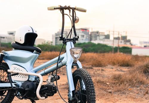 Honda Cub bobber độc đáo của sinh viên Việt - ảnh 6