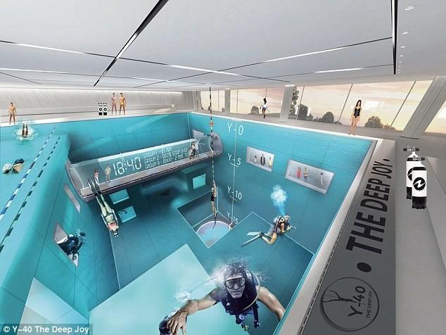 Bể bơi sâu nhất hành tinh ở Italy - ảnh 3