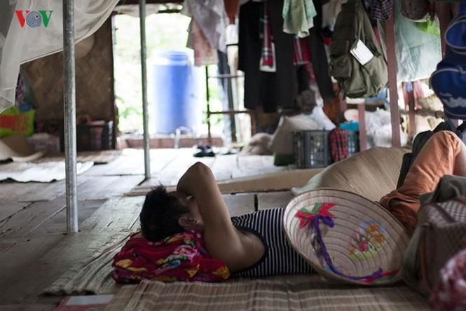 """""""Chốn ngủ"""" của những lao động nghèo dưới gầm cầu Long Biên - ảnh 6"""