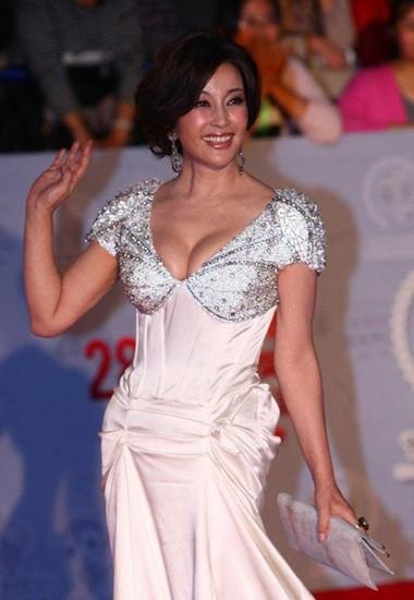 Trang phục tôn vòng một của Lưu Hiểu Khánh - ảnh 7