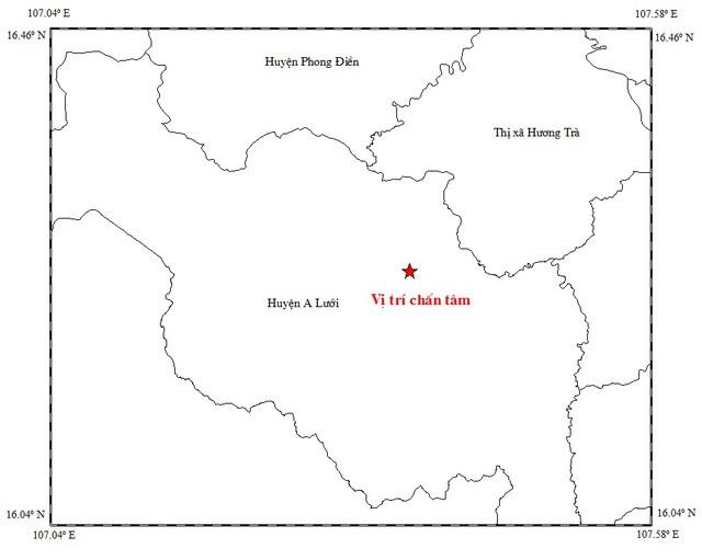 Thừa Thiên Huế xảy ra động đất nhẹ ngày đầu năm - ảnh 1