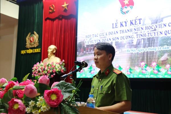 Đoàn thanh niên Học viện CSND ký kết nghĩa với Huyện đoàn Sơn Dương - ảnh 1