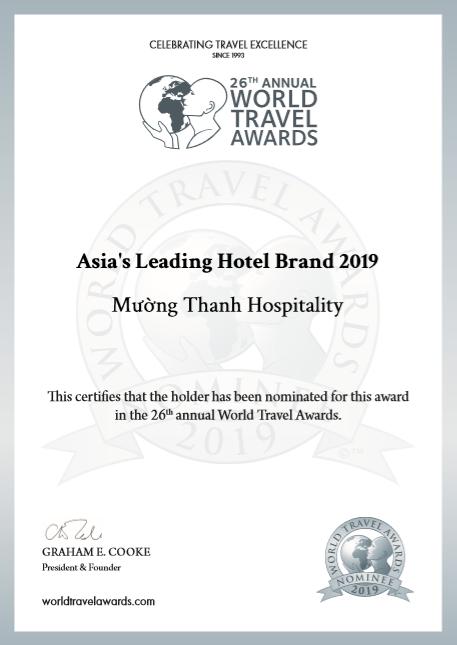 Mường Thanh tiếp tục lọt đề cử 'thương hiệu khách sạn hàng đầu Châu Á 2019' WTA - ảnh 1