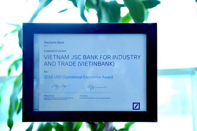 VietinBank: Ngân hàng có Chất lượng Thanh toán Quốc tế xuất sắc - ảnh 2