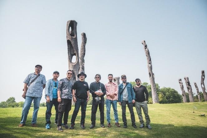 Đoàn nghệ sĩ châu Á ngỡ ngàng với Triển lãm nghệ thuật độc đáo tại Đại Lải - ảnh 4