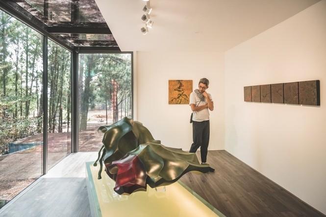 Đoàn nghệ sĩ châu Á ngỡ ngàng với Triển lãm nghệ thuật độc đáo tại Đại Lải - ảnh 9