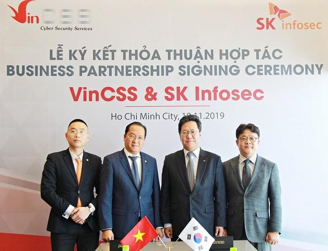 VinCSS ký thỏa thuận hợp tác an ninh mạng với SK Infosec - ảnh 1