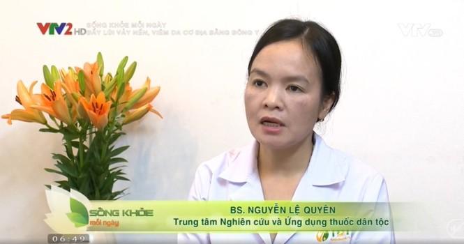 Bác sĩ Lệ Quyên chia sẻ giải pháp điều trị vảy nến, viêm da cơ địa trên VTV2 - ảnh 2