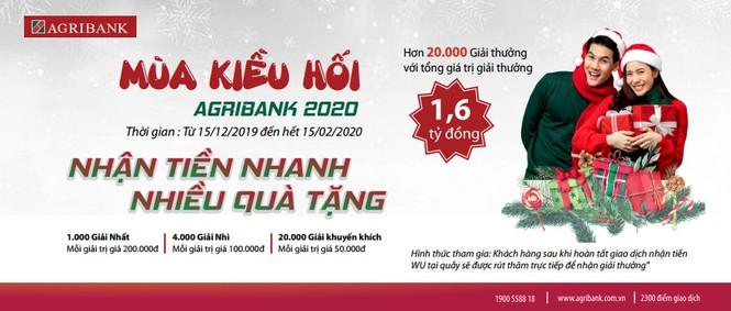 Mùa kiều hối Agribank 2020, nhận tiền nhanh – nhiều quà tặng - ảnh 1