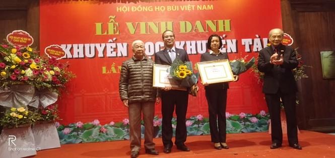 Cộng đồng họ Bùi Việt Nam: Vinh danh khuyến học, khuyến tài năm 2019 - ảnh 1