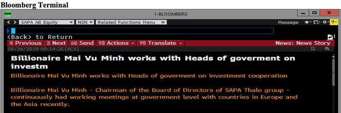 Bloomberg đưa tin tỷ phú Mai Vũ Minh làm việc với các nguyên thủ  - ảnh 2