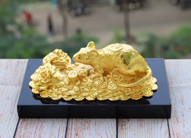 Quà tặng Tết 2020: Xuất hiện bộ sưu tập tượng Chuột mạ vàng đẳng cấp - ảnh 1