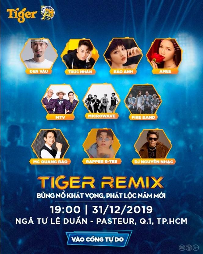Đánh dấu năm mới 'nổ tung' với 'cơn bão âm nhạc' Tiger Remix 2020 - ảnh 9