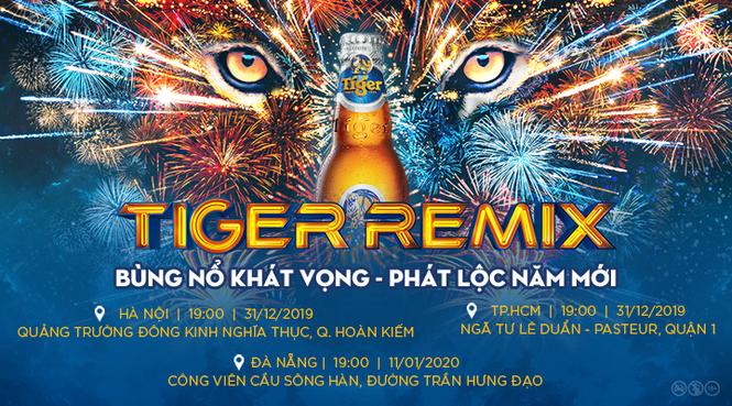 Đánh dấu năm mới 'nổ tung' với 'cơn bão âm nhạc' Tiger Remix 2020 - ảnh 1