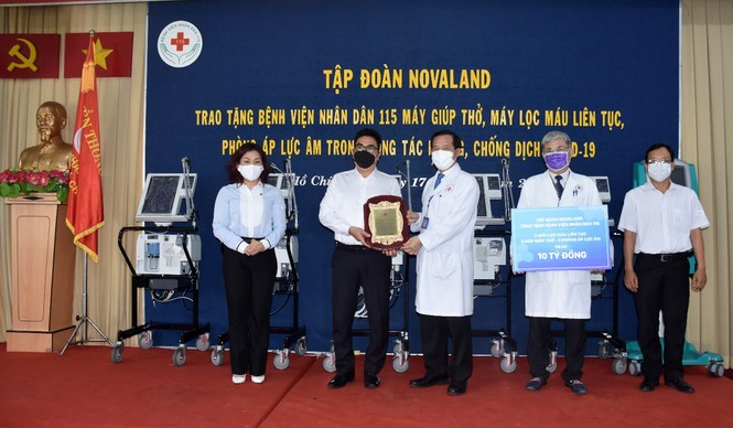 Tập đoàn Novaland tài trợ thêm nguồn lực y tế cùng bệnh viện nhân dân 115 đẩy lùi COVID-19 - ảnh 1