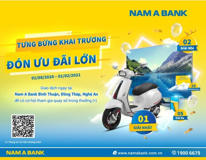 Cơ hội trúng thưởng lớn khi giao dịch tại Nam A Bank - ảnh 1