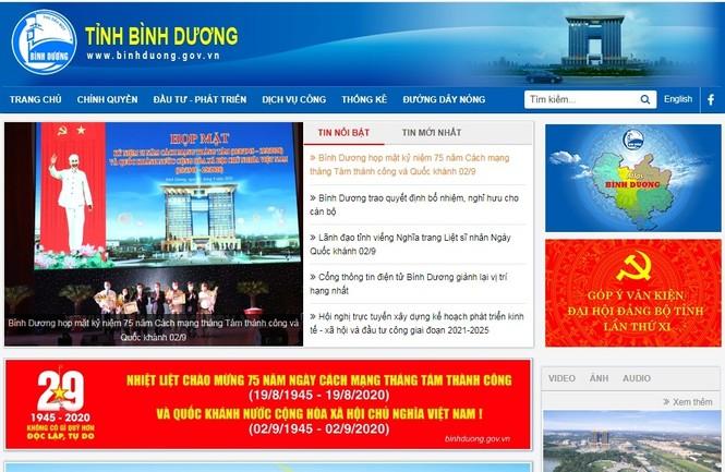 Cổng Thông tin điện tử tỉnh Bình Dương đứng hạng nhất trong 63 tỉnh, thành - ảnh 1
