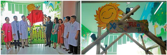 ABBank trao tặng khu vui chơi cho bệnh nhi tại bệnh viện nhi TW Hà Nội - ảnh 3