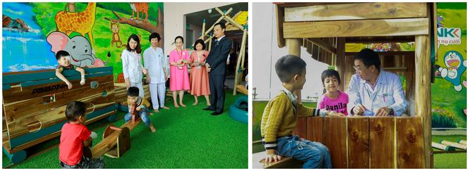 ABBank trao tặng khu vui chơi cho bệnh nhi tại bệnh viện nhi TW Hà Nội - ảnh 5