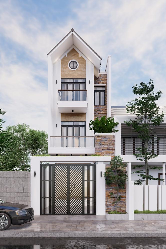 Mẫu thiết kế nhà đẹp theo phong cách hiện đại - ảnh 1