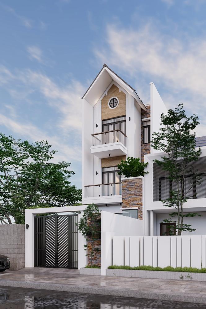 Mẫu thiết kế nhà đẹp theo phong cách hiện đại - ảnh 2