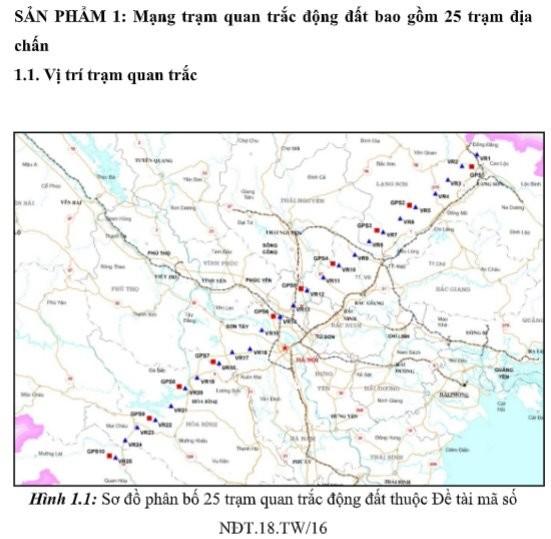 Áp dụng định vị toàn cầu nghiên cứu vỏ trái đất miền Bắc Việt Nam - ảnh 1