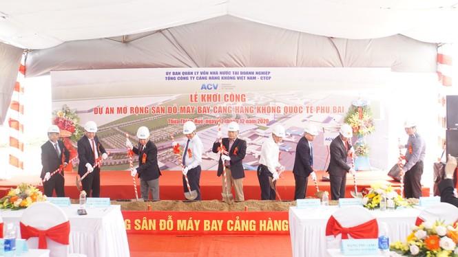 Cienco 4 bắt đầu thi công gói thầu gần 500 tỷ đồng tại sân bay Phú Bài - ảnh 1