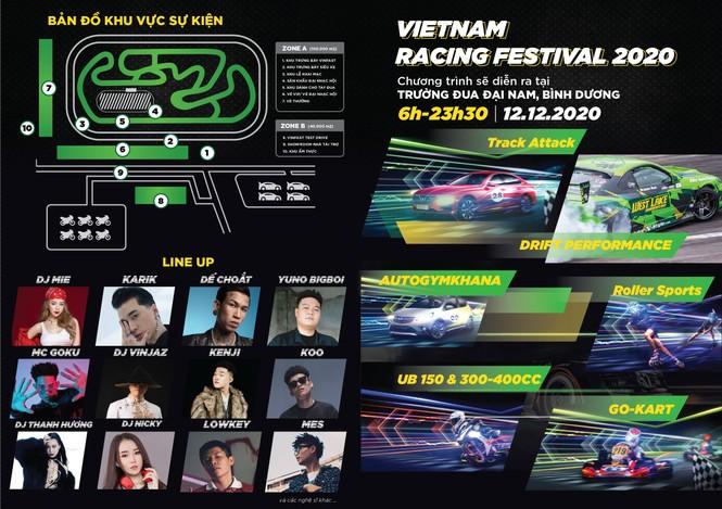 Xem đua xe, nghe Rap, EDM chuẩn quốc tế đầu tiên tại Việt Nam  - ảnh 2