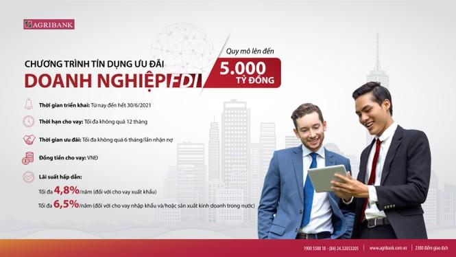 Agribank ưu tiên 70.000 tỷ đồng và 150 triệu USD cho các gói tín dụng ưu đãi cho DN - ảnh 1
