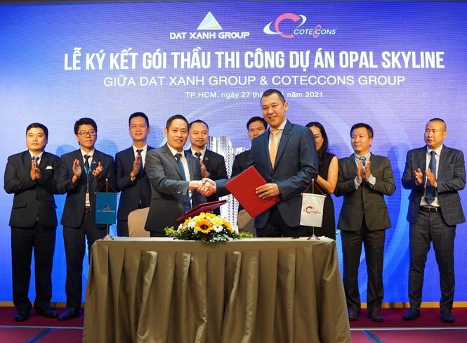 Tập đoàn Đất Xanh và Coteccons bắt tay xây dựng dự án Opal Skyline - ảnh 1