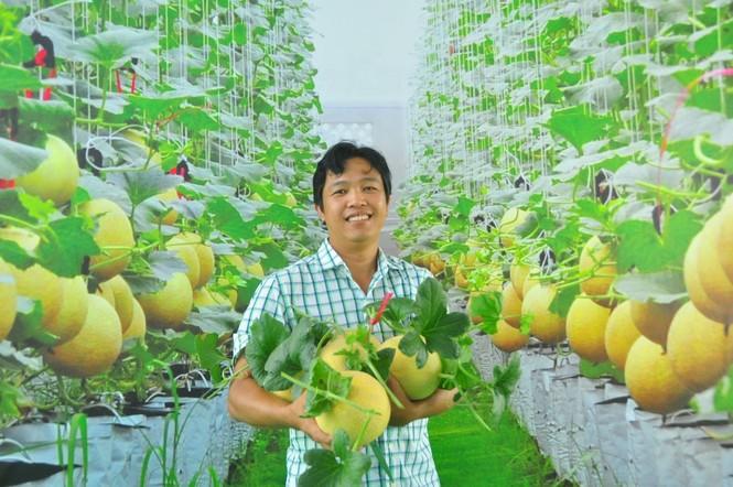 Mê mẩn vườn dưa lưới ở Cần Thơ thu hút đông bạn trẻ check-in dịp Tết - ảnh 13