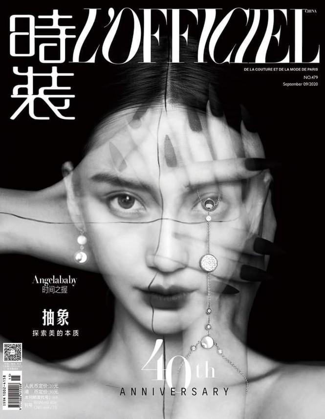 Ngắm Angela Baby đẹp xuất thần trên bìa tạp chí L'OFFICIEL Kim Cửu (9/2020) - ảnh 1