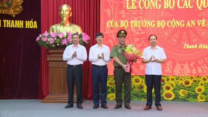 Công bố quyết định điều động, bổ nhiệm giám đốc Công an tỉnh Thanh Hoá - ảnh 1