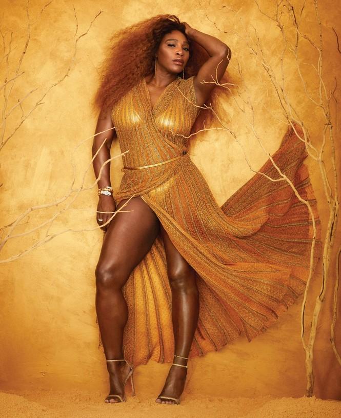 Serena Williams hở bạo trên trang bìa tạp chí danh tiếng - ảnh 2