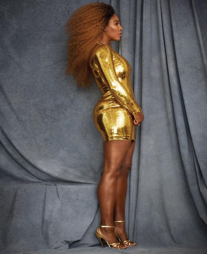 Serena Williams hở bạo trên trang bìa tạp chí danh tiếng - ảnh 1