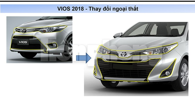 Toyota Vios 2018 lộ thông số kỹ thuật - ảnh 4