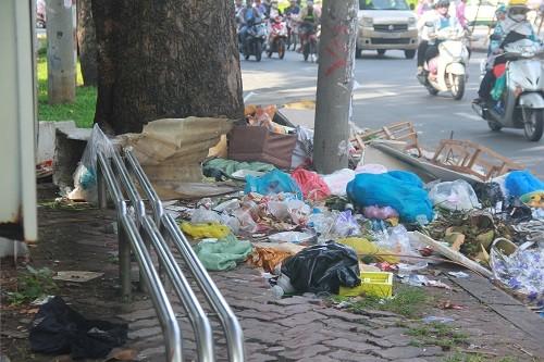 TP.HCM: Rác thải bủa vây nhiều tuyến đường giữa trung tâm thành phố - ảnh 1