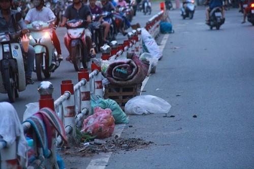TP.HCM: Rác thải bủa vây nhiều tuyến đường giữa trung tâm thành phố - ảnh 2