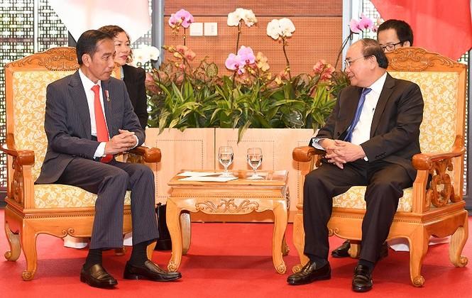 Thủ tướng Nguyễn Xuân Phúc hội kiến Tổng thống Indonesia - ảnh 1