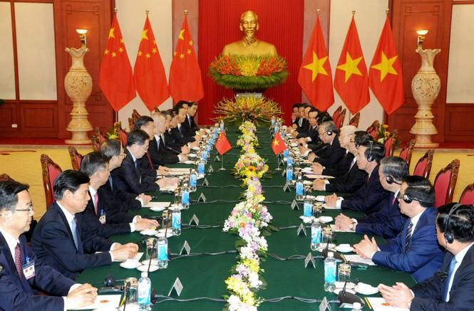 Lễ đón trọng thể Chủ tịch Trung Quốc Tập Cận Bình - ảnh 1