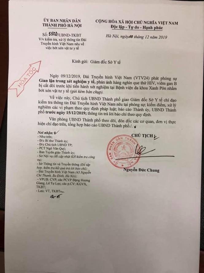 Chủ tịch Hà Nội chỉ đạo xử nghiêm vụ 'cắt đôi que xét nghiệm HIV' - ảnh 1