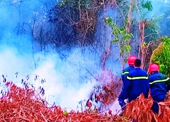 Cháy dữ dội trong khuôn viên trường bắn quân sự - ảnh 2