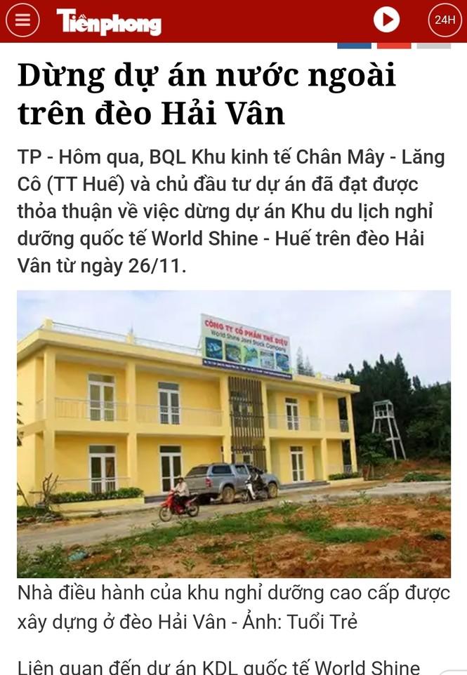 Yêu cầu làm rõ việc tung tin thất thiệt bán đất núi Hải Vân cho người nước ngoài - ảnh 2