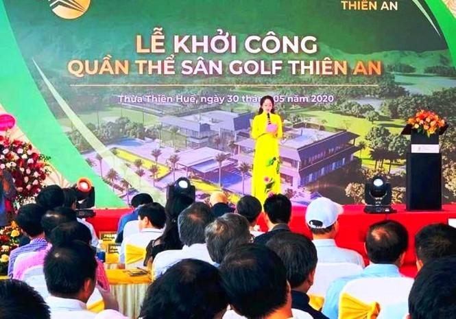 """Khởi công """"chui"""" dự án sân golf ở Huế ? - ảnh 1"""