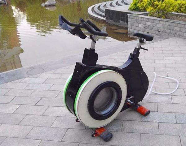 Xe đạp kèm máy giặt để ai cũng có thể tiết kiệm thời gian - vừa tập thể dục, vừa làm việc nhà - ảnh 3