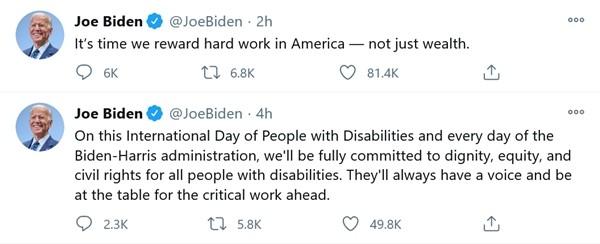 """Tổng thống Trump cứ nhắc đến ông Biden mà không được đáp lại, bị trêu là """"tình đơn phương"""